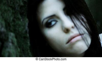 Death of woman closeup