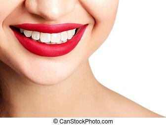 Woman smile closeup