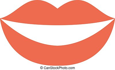 Woman smile teeth whitening dental care vector. - Dental...