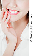 woman smile with health teeth