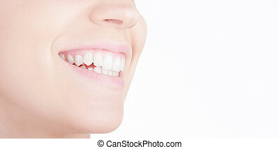 Woman smile with white teeth