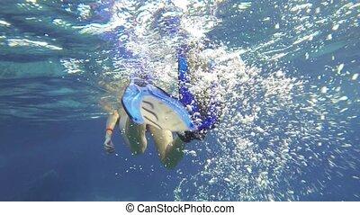 Woman Snorkeling In Red Sea