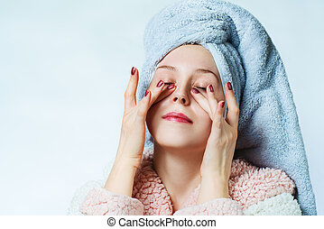 Woman spa portrait