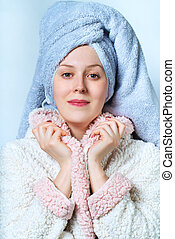 Woman spa portrait