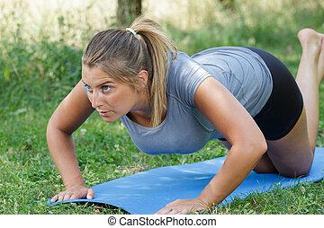 woman sport park
