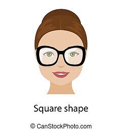 Woman square face shape