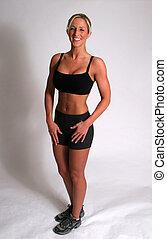 Woman standing pose