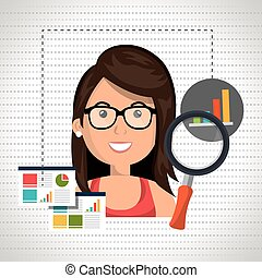 woman statistics graphic search