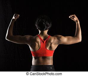 woman., sterke