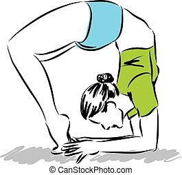woman stretching illustration