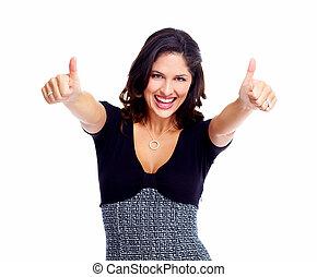 woman., success., ビジネス, 幸せ