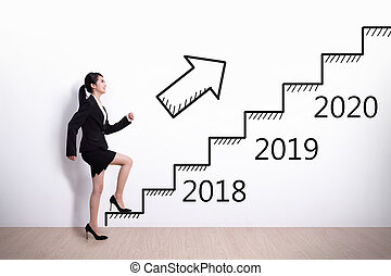 woman success in new year