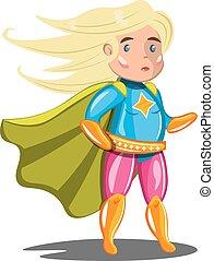 Woman superhero in costume