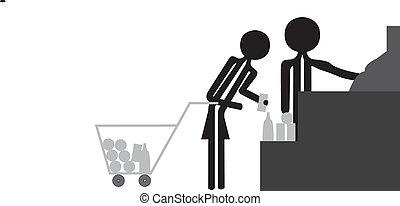woman supermarket