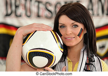Woman supporter of German soccer team
