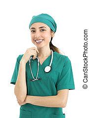 Woman surgeon portrait