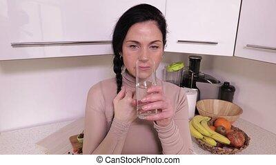 Woman take fish oil
