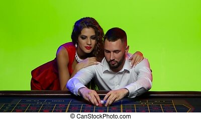 Woman takes a man with casino after losing all chips