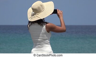 Woman Taking Photos On Vacation