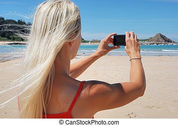 Woman taking picture