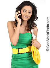 woman talking in cell phone