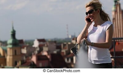 woman talking on her phone