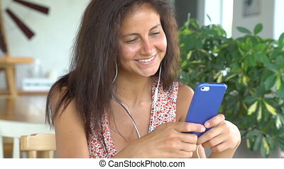 Woman talking on her smartphone