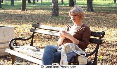 woman talking on phones