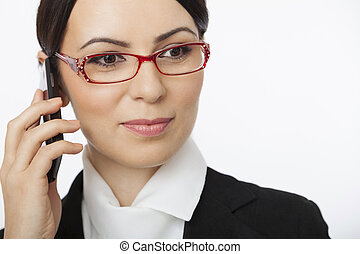 Woman talking over cellphone