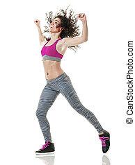 woman, tanzt, freigestellt, tänzer, fitness, übungen