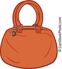 (woman, tasche, handbag).eps, frauen