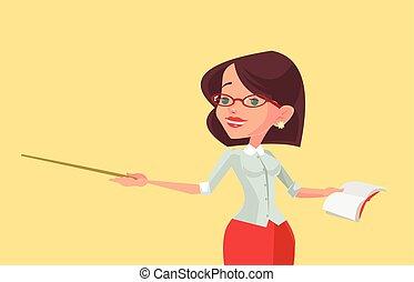Woman teacher character