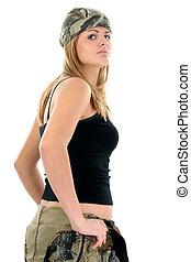 Woman Teen Camo