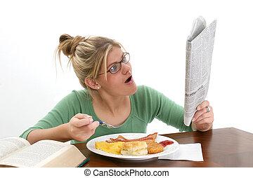 Woman Teen Reading