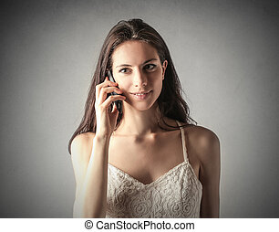 Woman telephoning