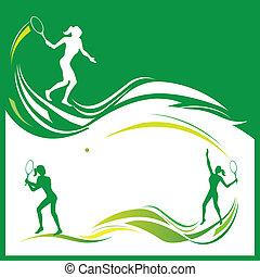 Woman tennis vector - Vector illustration of woman tennis...