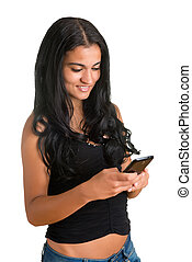 Woman Texting on a Phone
