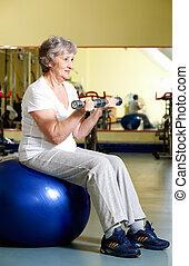 Woman training