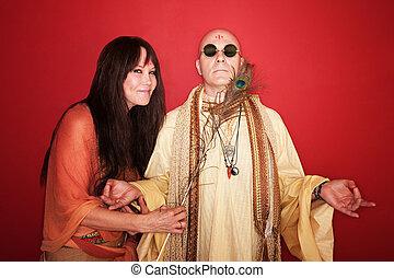 Woman Tries To Disturb Meditating Guru