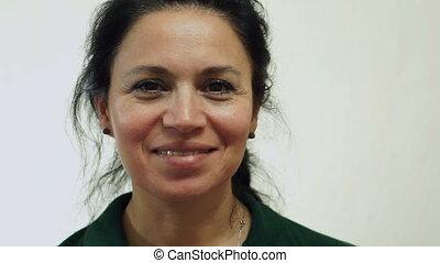 Woman USA Passport Portrait Closeup