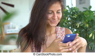 Woman use smartphone.