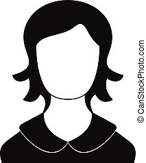 Woman user icon vector simple