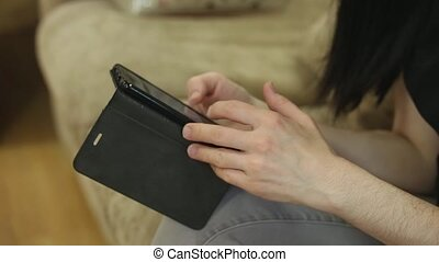 Woman Using a Smart Phone - Young businesswoman using smart...