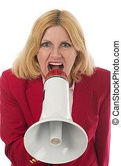 Woman Using Megap 3F