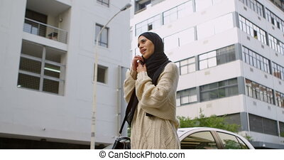 Woman using mobile phone 4k - Woman using mobile phone in ...