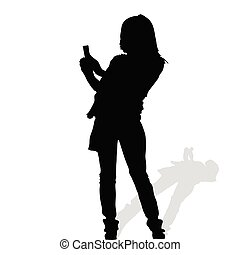 woman vector art silhouete