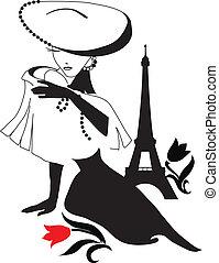 Woman vintage silhouette