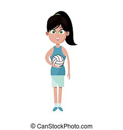 woman volleyball player icon image