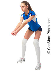 Woman volleyball player (ver without ball) - Young woman...