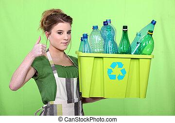 woman waist sorting